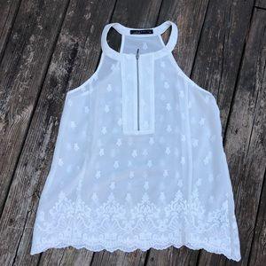 White Sheer Halter Blouse [Size: Medium]